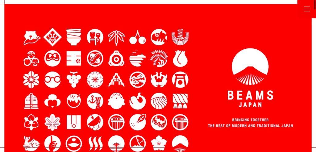 グローバルナビゲーション BEAMS JAPAN