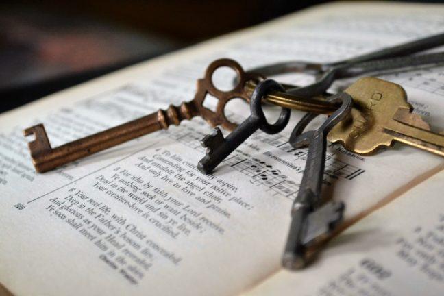 アンティークキーの鍵束